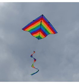 In The Breeze Delta Kite w/ Spinner Rainbow 46""