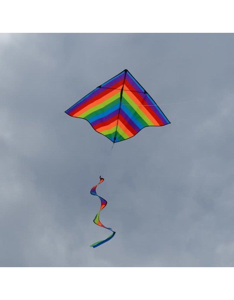 "In The Breeze Delta Kite w/ Spinner Rainbow 46"""