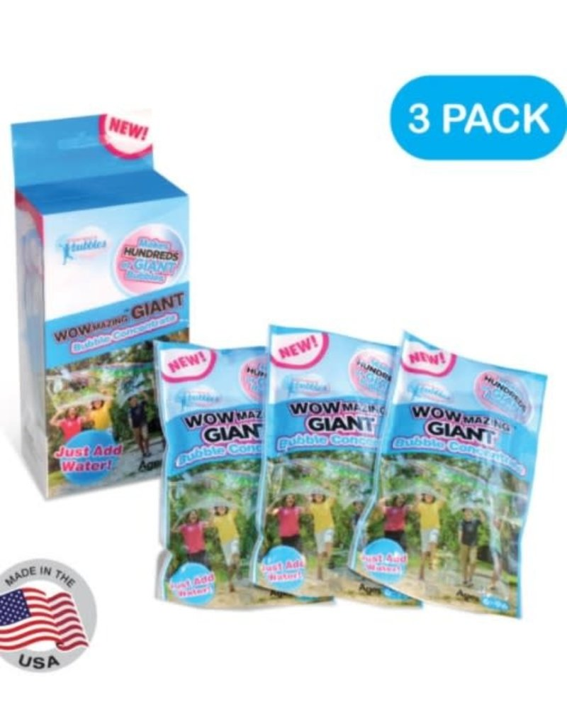 WOWMazing Bubbles 3 Pack Refill 6+