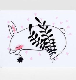 Sleeping Bunny - Postcard