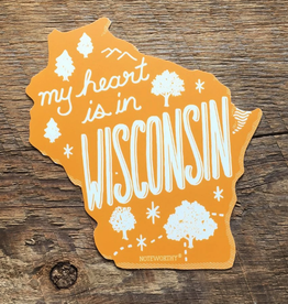 Sticker - My Heart is in Wisconsin