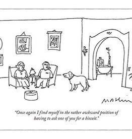Ask for Biscuit New Yorker Cartoon