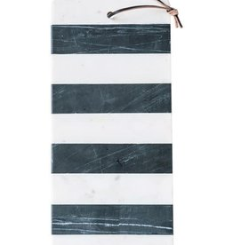 "Cutting Board - Marble B&W Stripe 16""x6"""