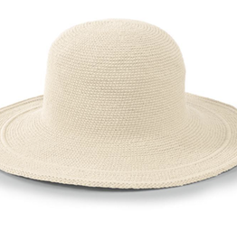 Hat - Cotton Crochet Natural - Womens