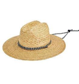 """Hat - Men's Lifeguard Straw 3.75"""" brim XL/L"""