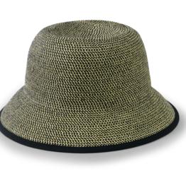Hat - Paperbraid Bucket Multi Black