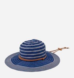 """Hat - Ribbon Denim 4"""" brim w suede tie"""