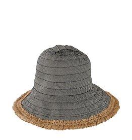 Hat - Bucket Ribbon w/ Hemp Edging - Womens