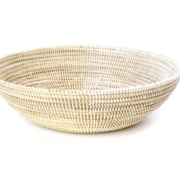 Basket - Cream and White 14""