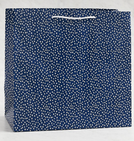"Gift Bag - Flurry Navy Large 13""x12.5"""