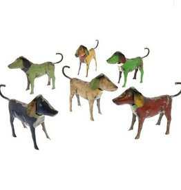 "Dog - Reclaimed Metal 6.5"" assorted"