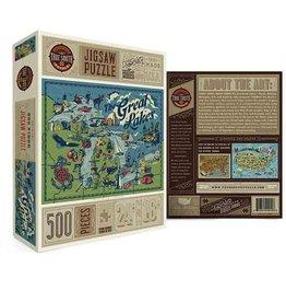 Puzzle - Great Lakes, 500 pcs