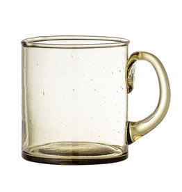 Mug Olive Glass 8 oz.*