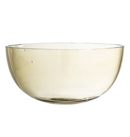 "Bowl - Olive Glass 8.75"" x 4.74""*"