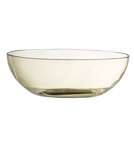 "Bowl - Olive Glass 8.75"" x 2""*"