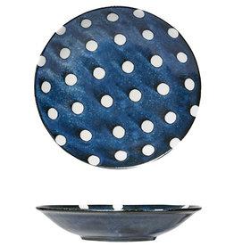"Bowl - White Polka Dot 9"""