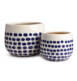 Pot - Lana White & Blue