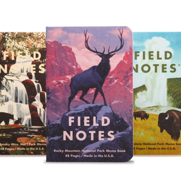 Memo Book  C - Rocky Mountains 3-pack
