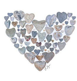 Heart with Rocks