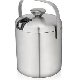 True Fabrications Ice Bucket  w/tongs Stainless Steel