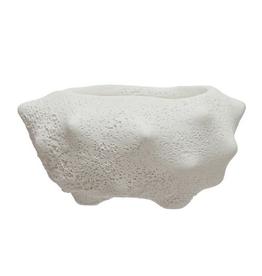 "Cachepot - White Volcano Glaze 2""Dx1.75""H"