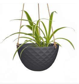 "Cachepot - Mini Mofo Hanging Black 7.5"""