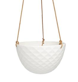 "Cachepot - Mini Mofo Hanging White 7.5"""