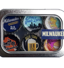 Magnets - Milwaukee - Recycled Bottle Caps Set/6
