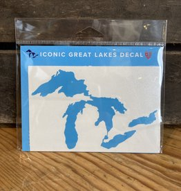 "Sticker - Great Lakes LIGHT BLUE  - 3""x5"""