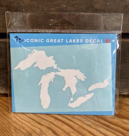 "Sticker - WHITE  Great Lakes - 3""x5"""