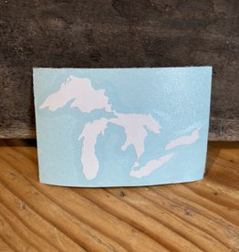 "Sticker -  Great Lakes WHITE 2""x3"""
