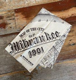 Dishtowel - Milwaukee Map