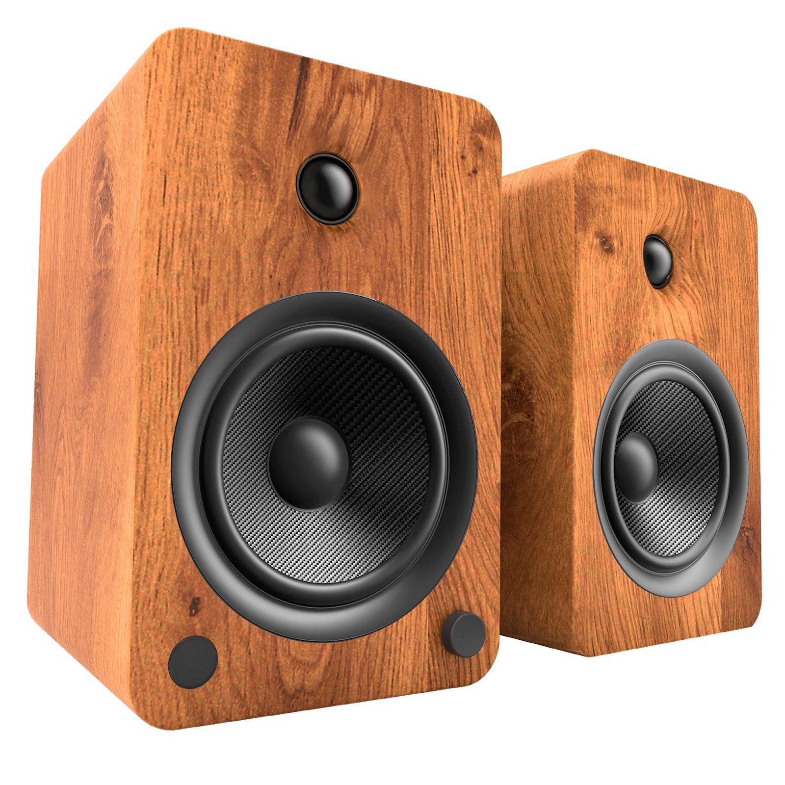 Kanto Audio YU6 Speakers in Walnut