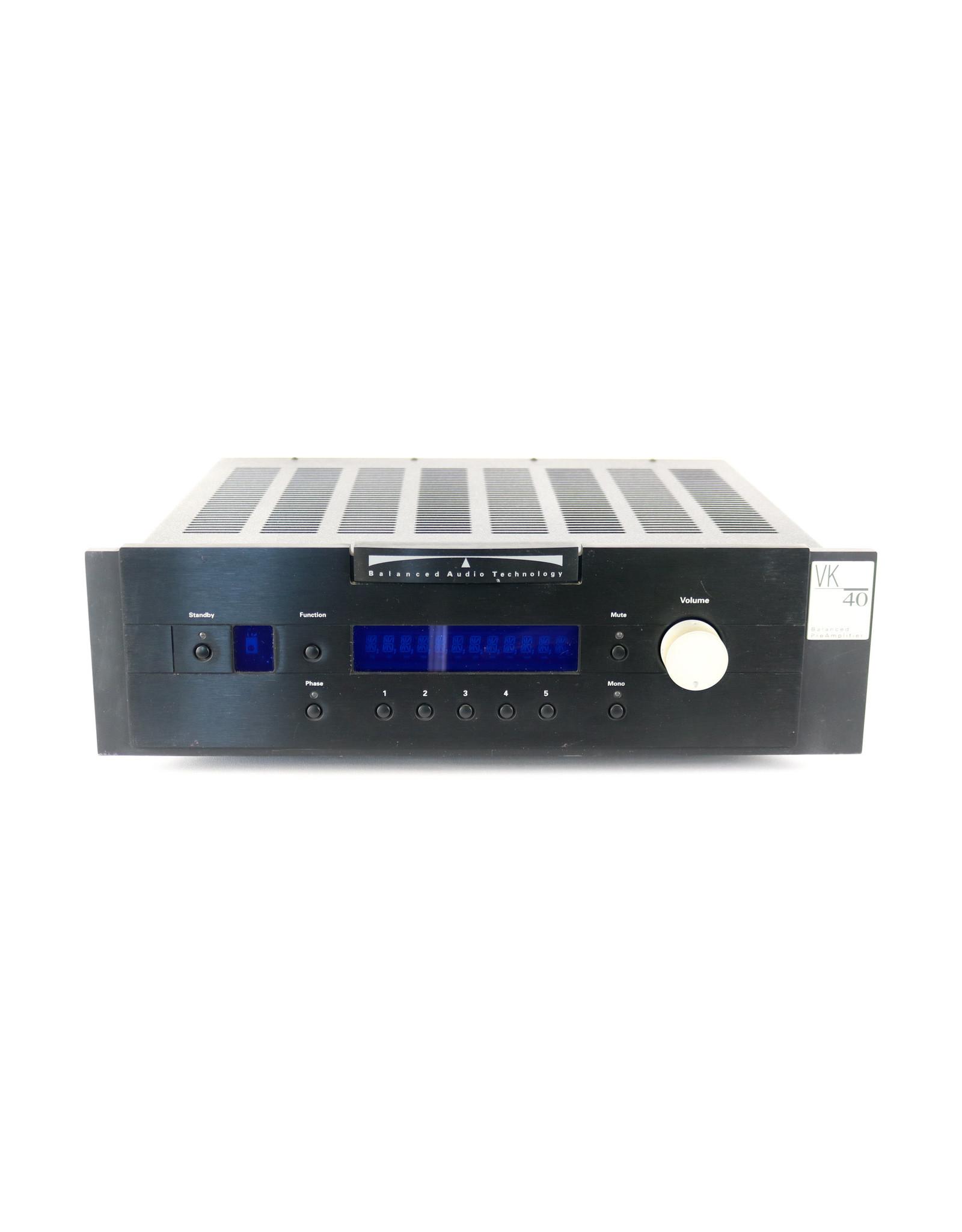 Balanced Audio Technology Balanced Audio Technology VK-40 Preamp USED