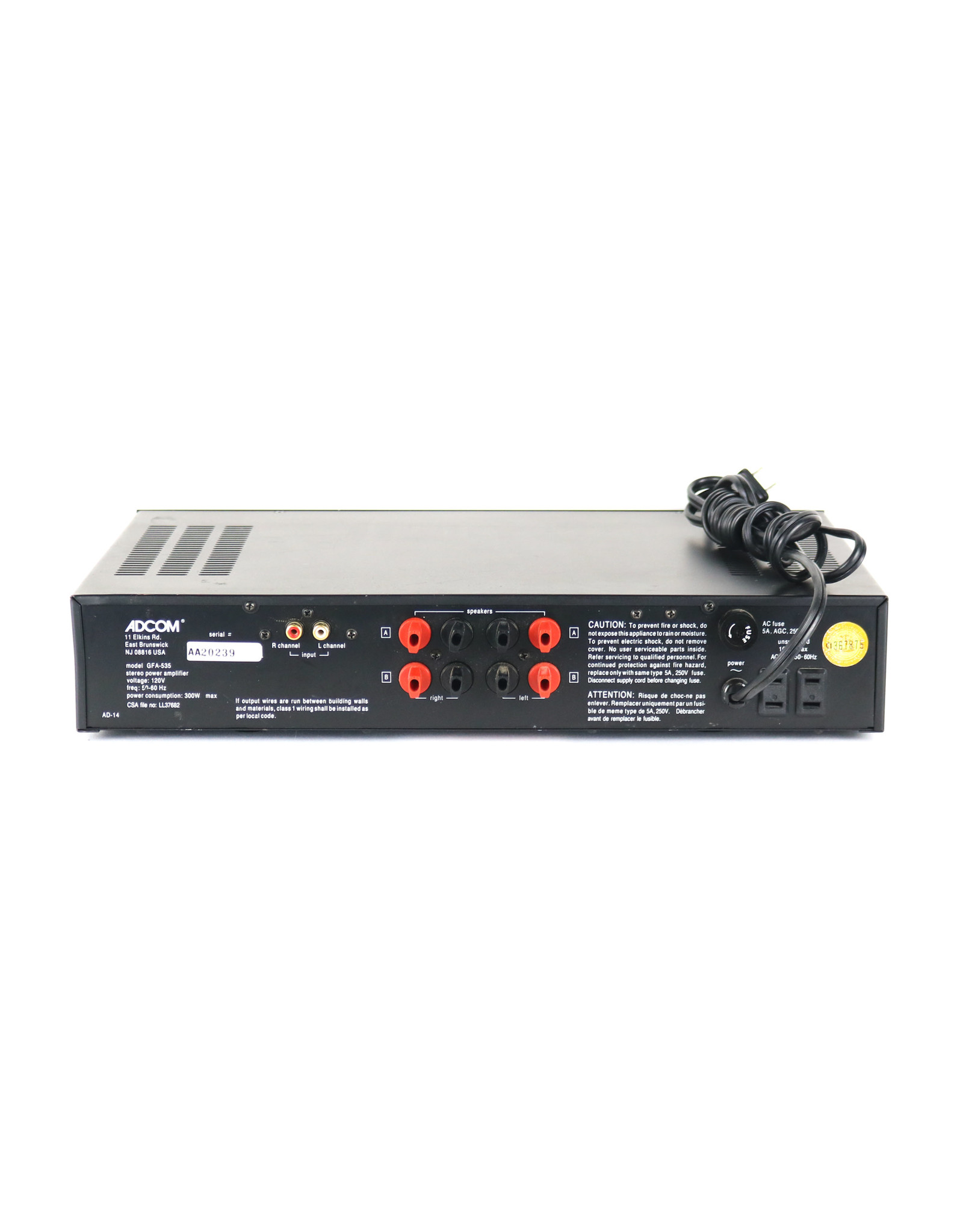 Adcom Adcom GFA-535 Power Amp USED