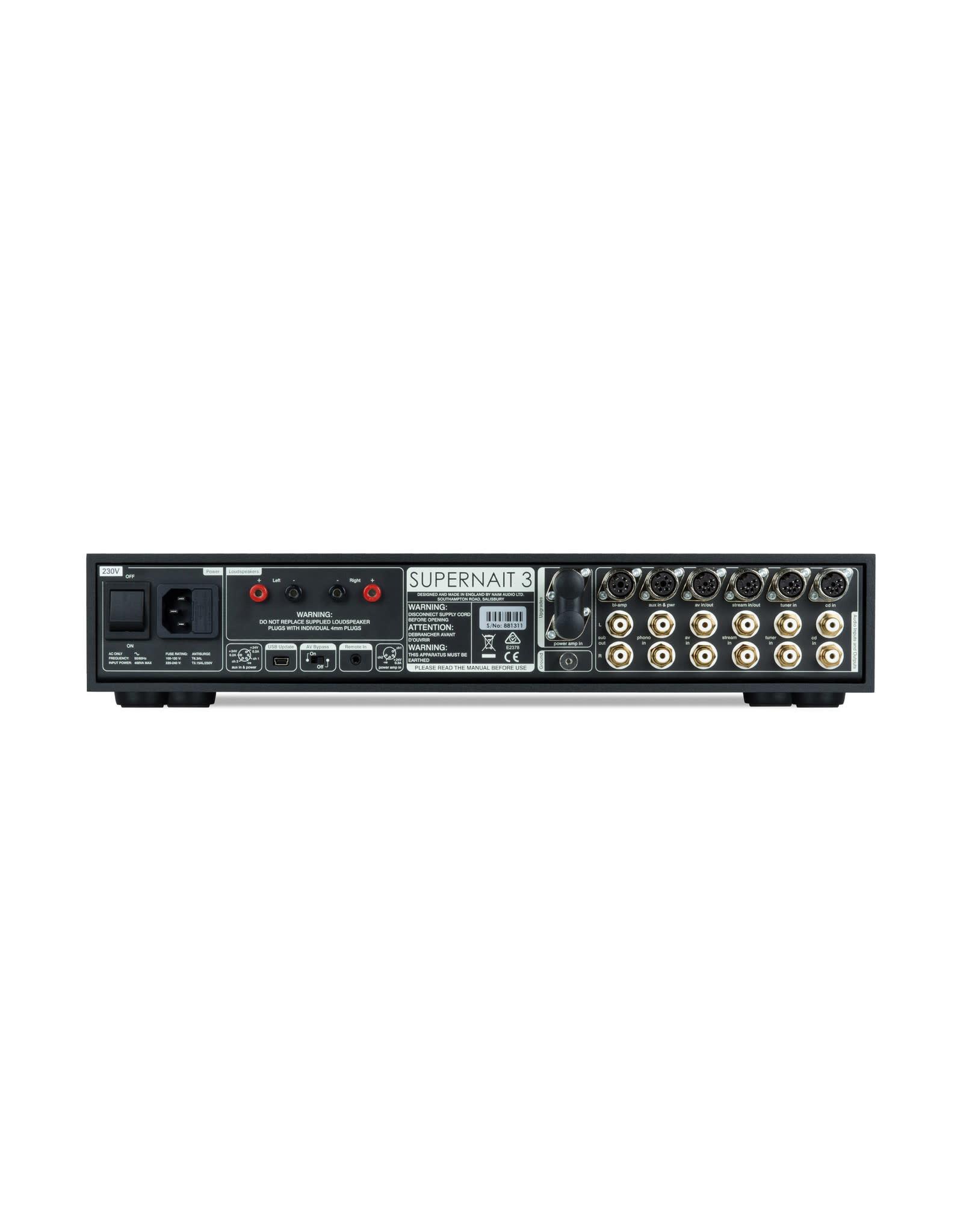 Naim Audio Naim Audio SuperNAIT 3 Integrated Amplifier FACTORY REFURBISHED