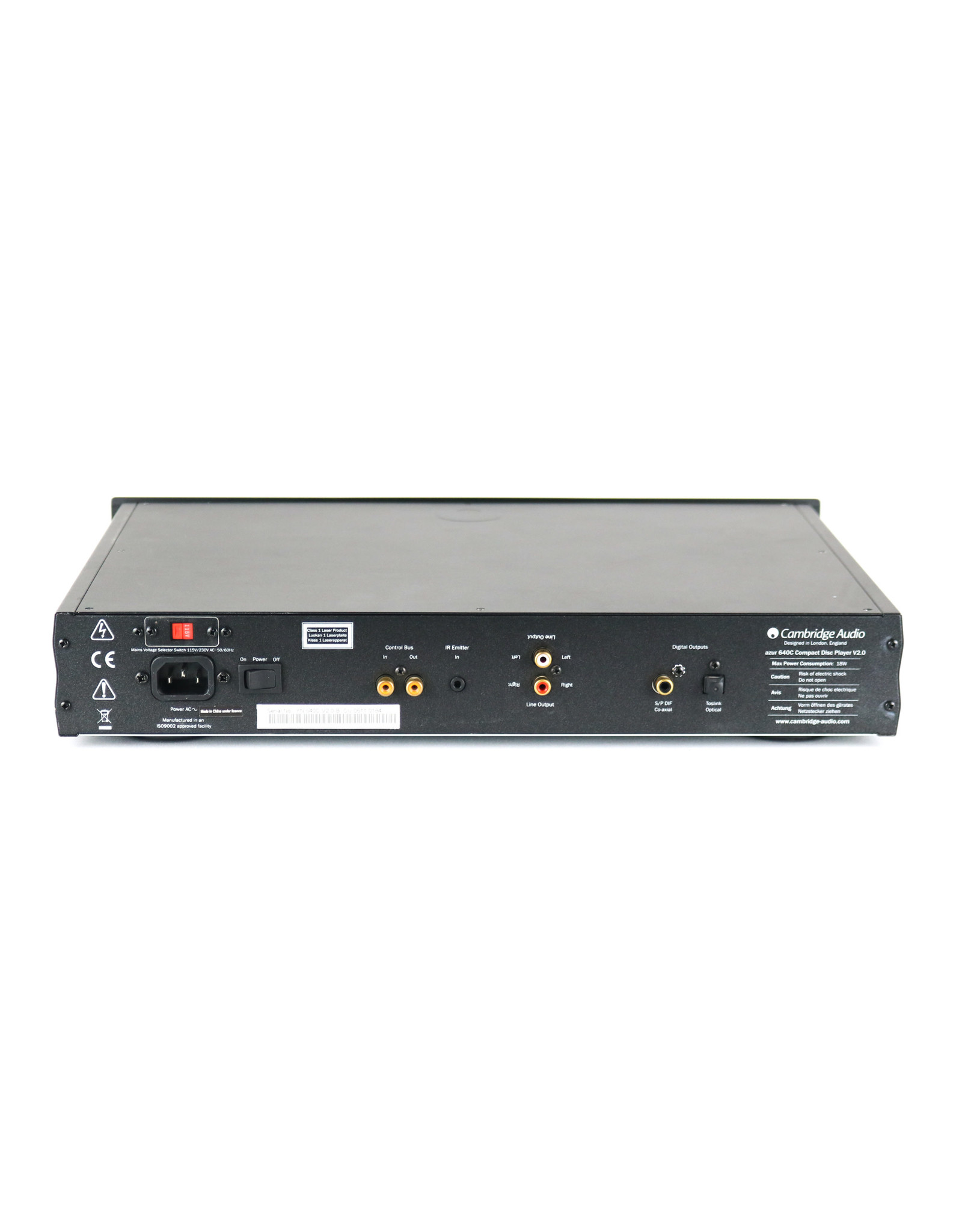 Cambridge Audio Cambridge Audio 640C V2 CD Player Black USED