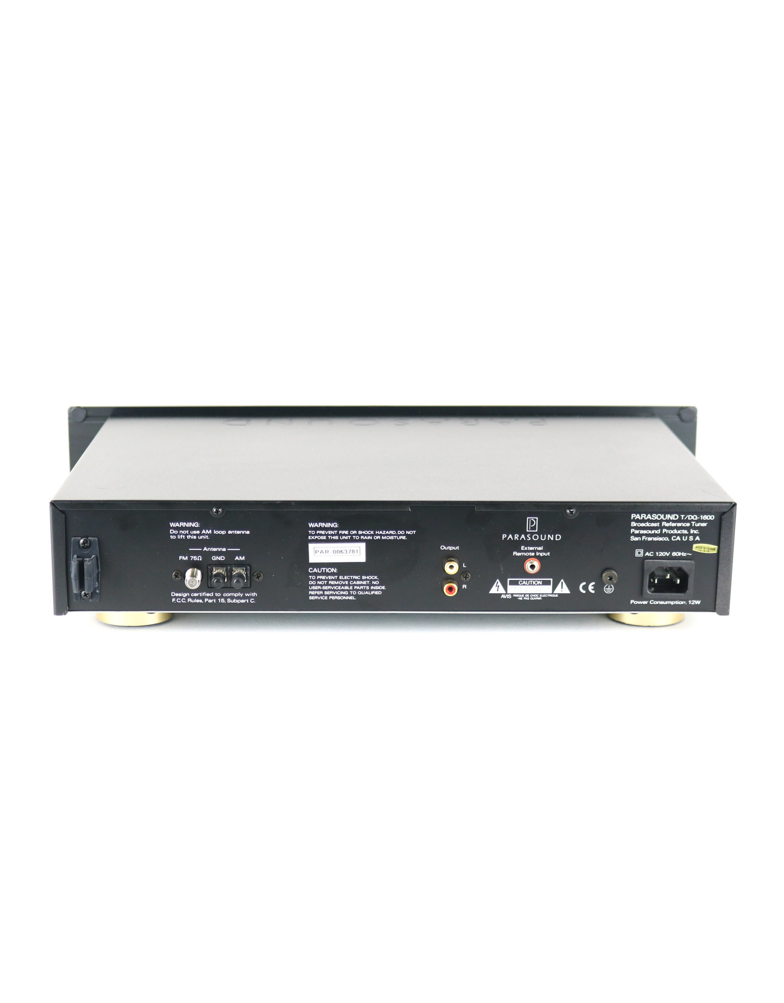 Parasound Parasound T/DQ-1600 Tuner USED
