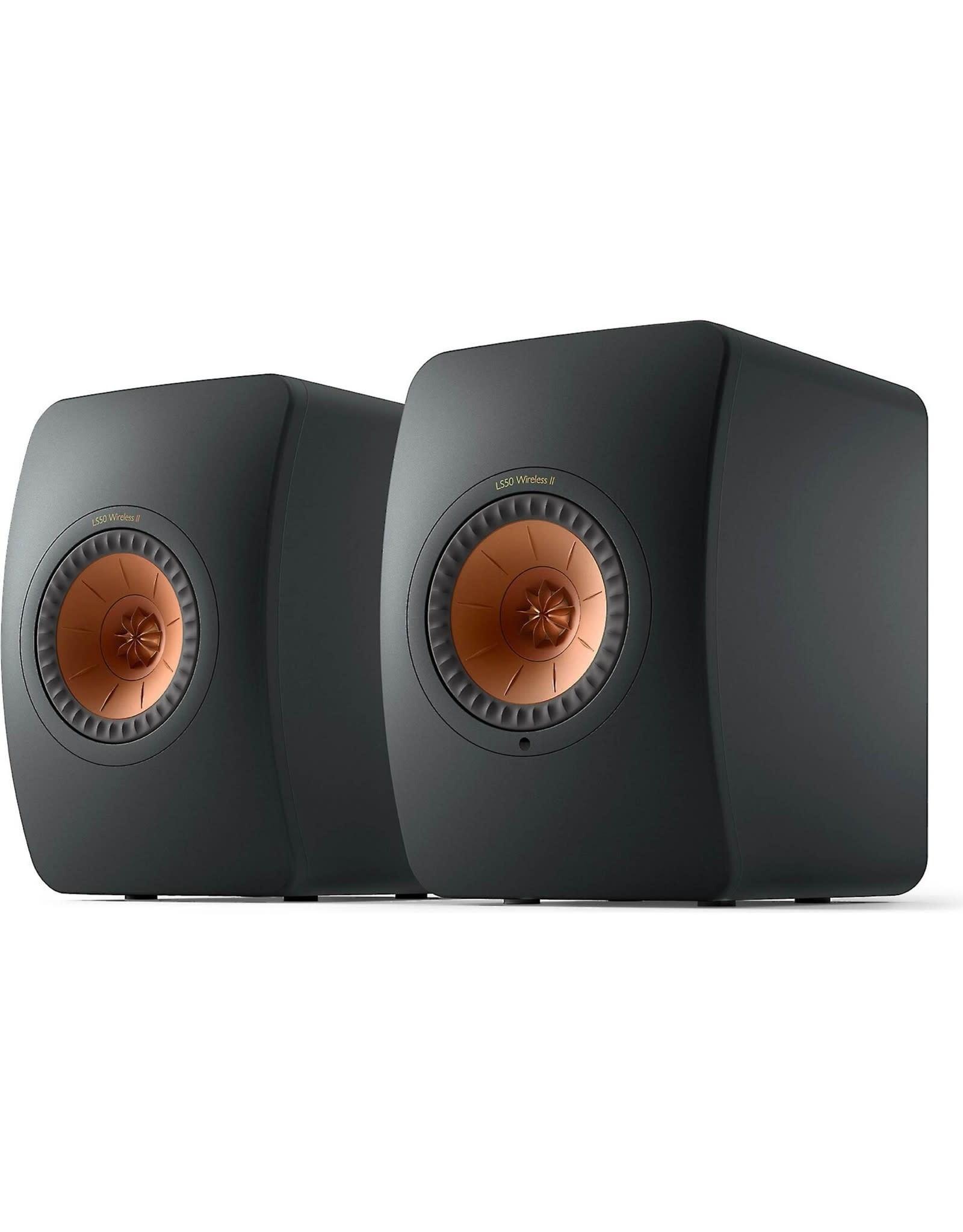KEF KEF LS50 Wireless II Powered Bookshelf Speakers Carbon Black OPEN STOCK