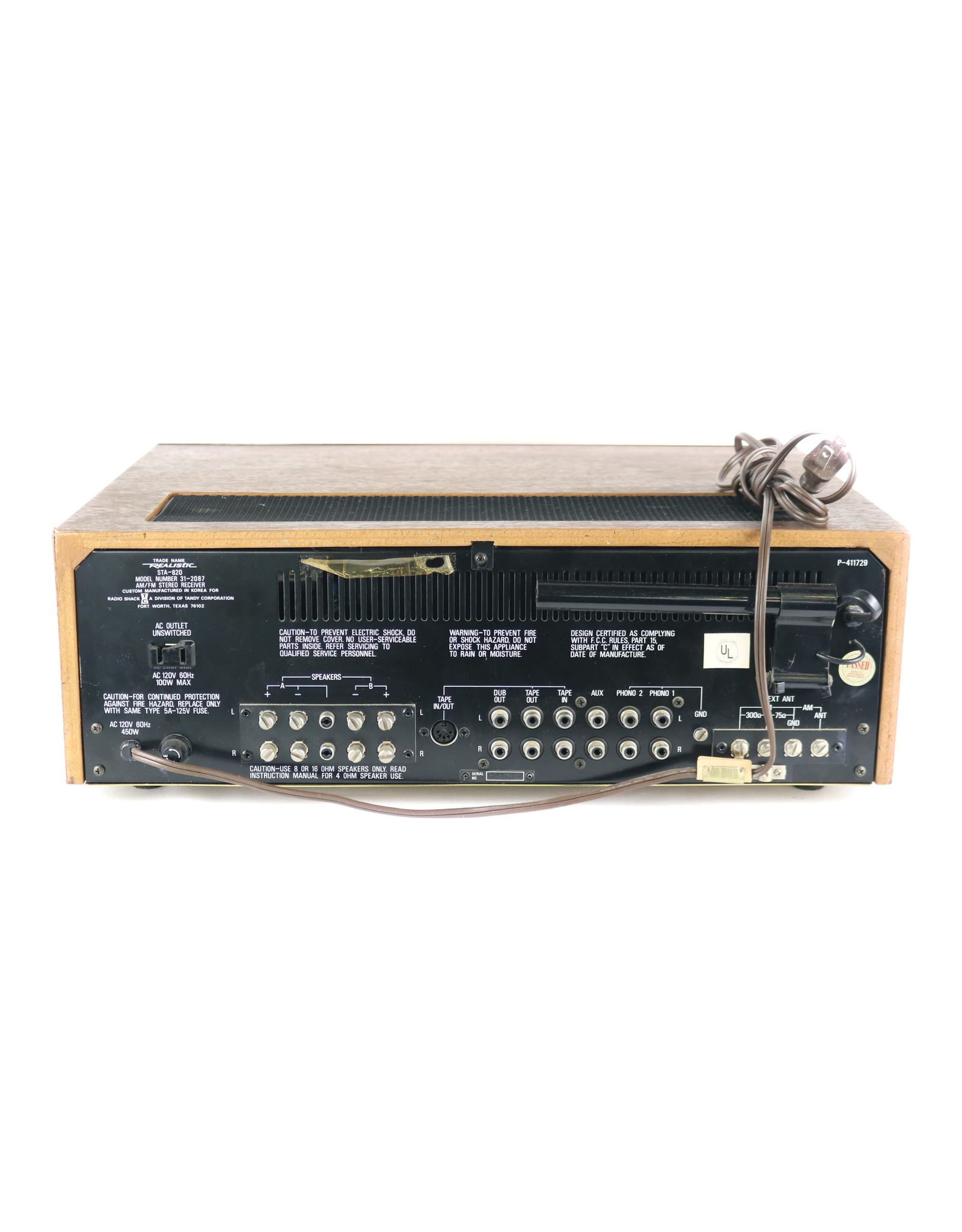 Realistic Realistic STA-820 Receiver USED