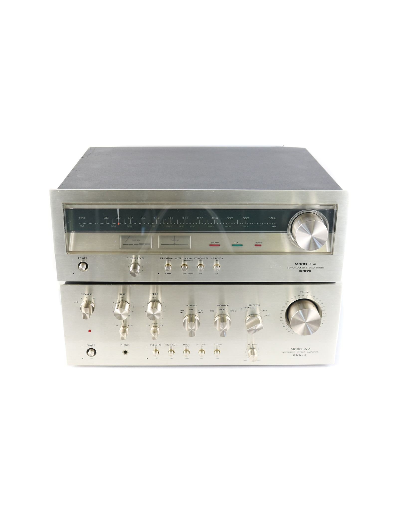 Onkyo Onkyo A-7 + T-4 Integrated Amp & Tuner Combo USED