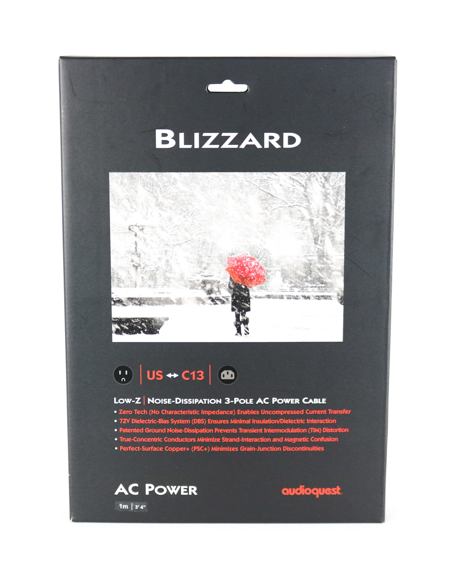 AudioQuest AudioQuest Blizzard 1m AC Power Cable USED