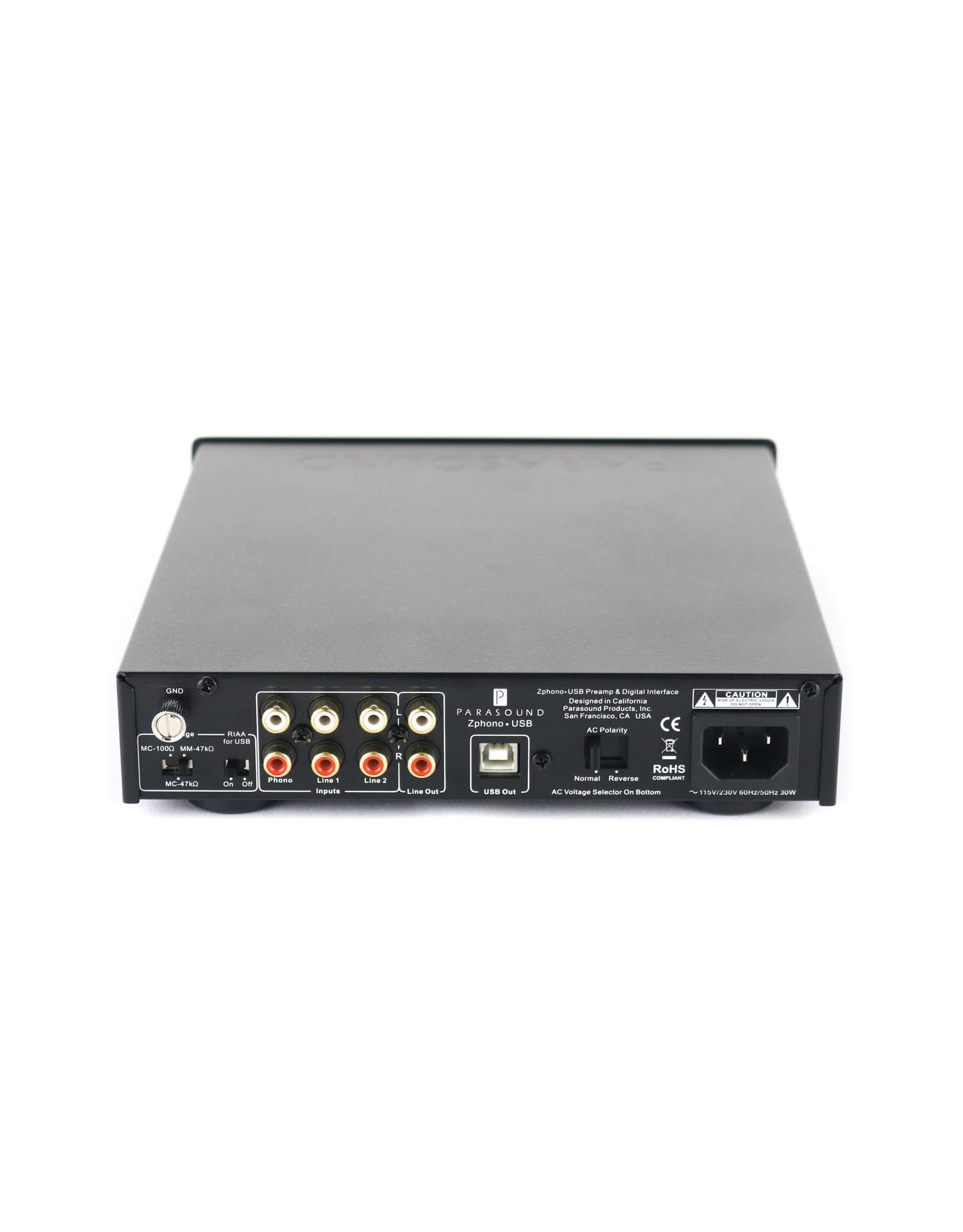 Parasound Parasound Zphono USB Phono Preamp Black USED