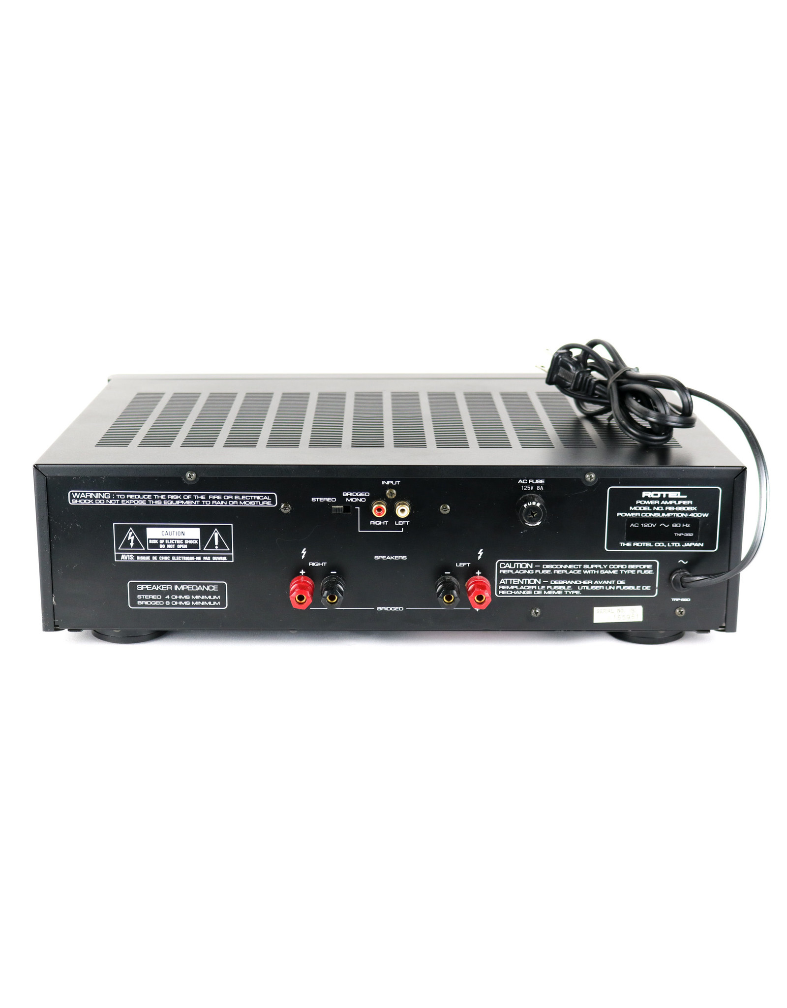 Rotel Rotel RB-980BX Power Amp USED
