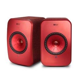 KEF KEF LSX Wireless Speakers Maroon DISCONTINUED