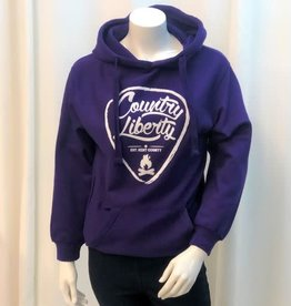 Country Liberty CL Purple Solid Hoodie
