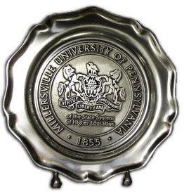 "Mu Seal Pewtarex Plate - 9.5"""