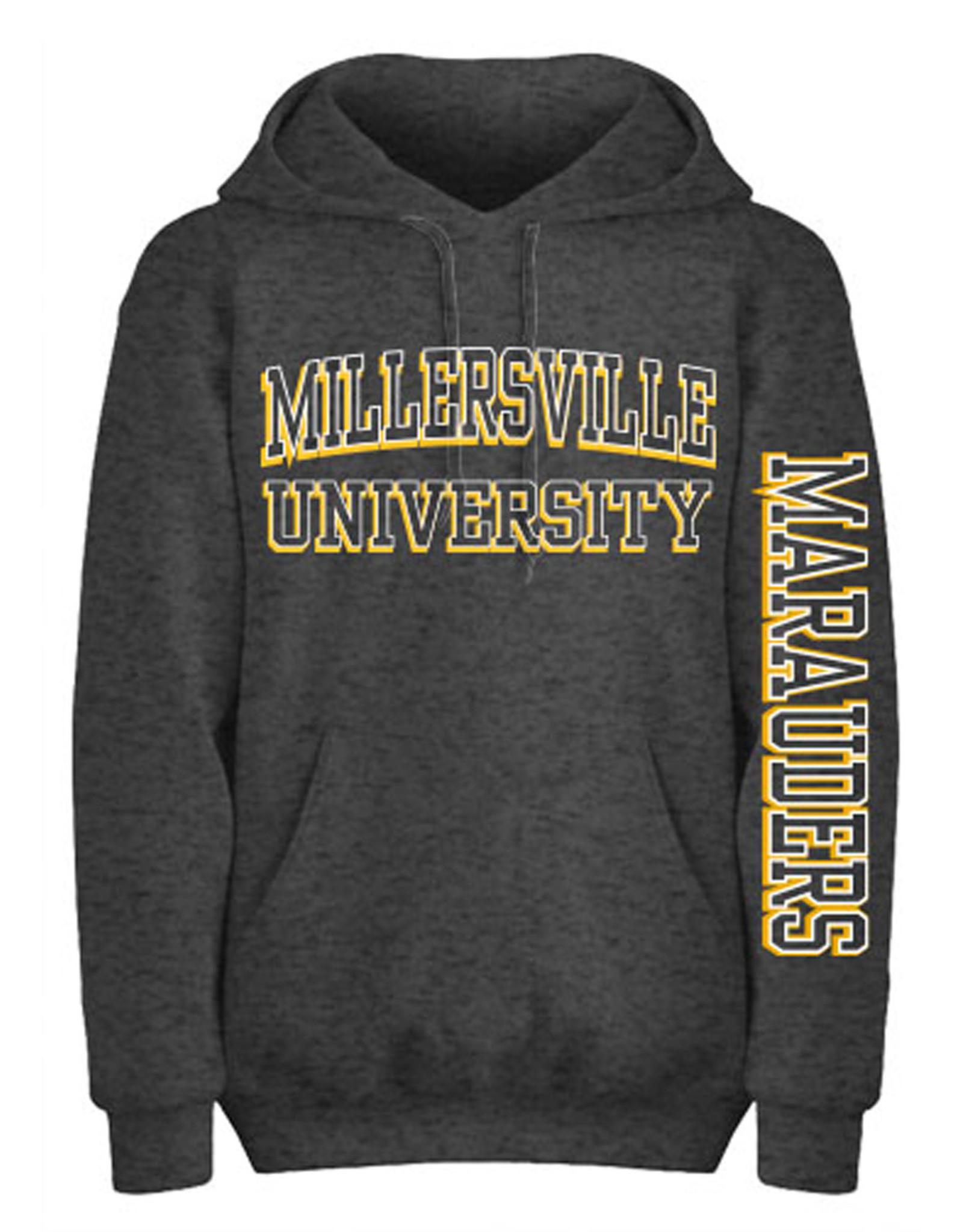 """""""Eighty 8"""" Collegiate  """"3D"""" Dark Heather Hooded Sweatshirt"""