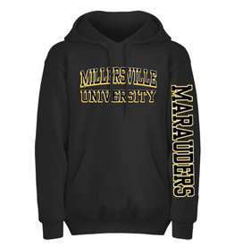 """""""Eighty 8"""" Collegiate """"3D""""  Black Hooded Sweatshirt"""