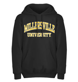 Black Basic Arch Millersville Hooded Sweatshirt